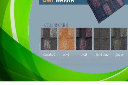 Distributor Genteng Metal Minimalis Dwi Warna